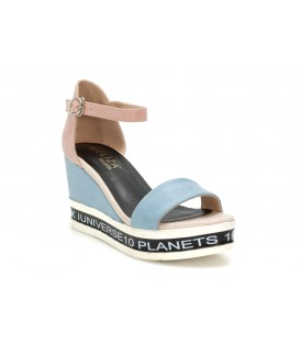 Ladies sandals 8328-1 BLUE-PINK