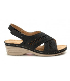 Ladies sandals JSDH17265-12 BLACK