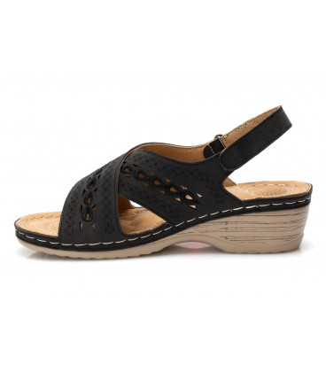 Ladies sandals JSDH265-12 BLACK