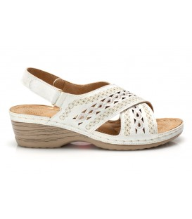 Ladies sandals JSDH17265-12 WHITE
