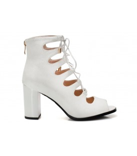 Ladies sandals F1880-L240 WHITE-Suede