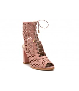 Ladies sandals F1880-L241 PINK-Suede