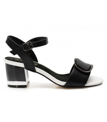 Ladies sandals 7021-01 BLACK-WHITE