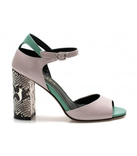 Ladies sandals C1200-P625 BEIGE-GREEN
