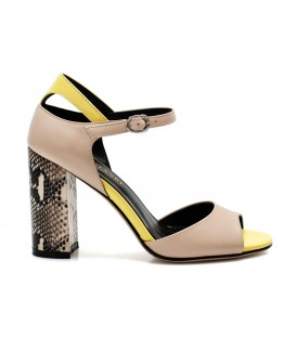 Ladies sandals C1200-P625 BEIGE-YELLOW