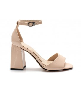 Ladies sandals C1068-C217 BEIGE PATENT LEATHER