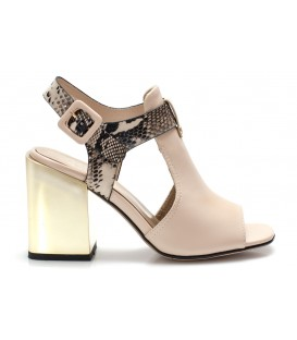 Ladies sandals C1077-H565 BEIGE